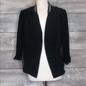 City Chic Black Studded Blazer Jacket Size S/ 16W